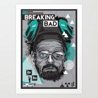 breaking bad Art Prints featuring Breaking Bad by Sophie Bland