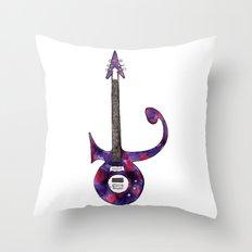 prince symbol guitar Throw Pillow