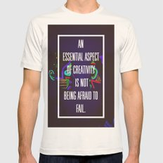 Not Being Afraid to Fail Mens Fitted Tee Natural SMALL