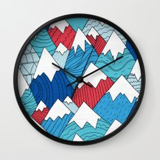 Mountain Pattern 2.0  Wall Clock