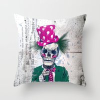 Skully Sam Throw Pillow