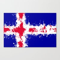 in to the sky, iceland Canvas Print