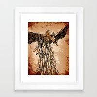 KNIFE VULTURE Framed Art Print