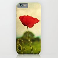 iPhone & iPod Case featuring Red Poppy by The Last Sparrow