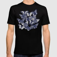 butterfly pale mint SMALL Mens Fitted Tee Black