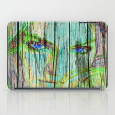 Woman on wood iPad Case