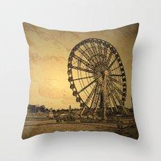 Ferris Wheel, Paris Throw Pillow