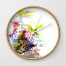 Flying Home (Glitch Remix) Wall Clock
