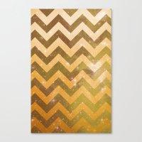 Golden Space Chevron Canvas Print