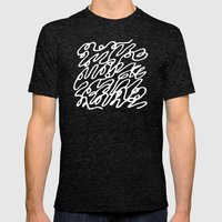 Scribble  Mens Fitted Tee Tri-Black SMALL