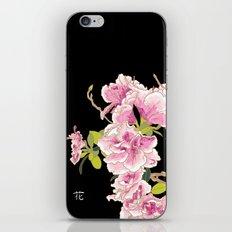 Heavenly Blossom on Black iPhone & iPod Skin