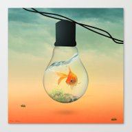 Canvas Print featuring GOLD FISH  by Mark Ashkenazi