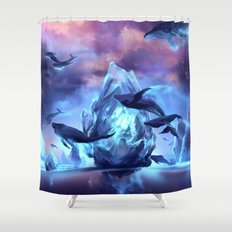 When the moon is closer Shower Curtain