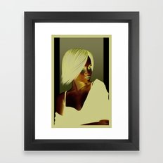Lady Bleu Framed Art Print