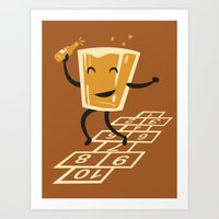 Hop-Scotch Art Print