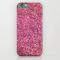 iPhone & iPod Case featuring PINK GLITTER by natalie sales