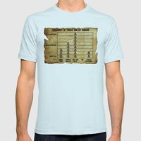 Movie Maths #2 Mens Fitted Tee Light Blue SMALL