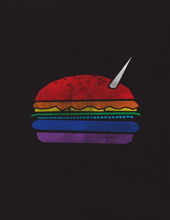 The Last Unicorn Burger Art Print