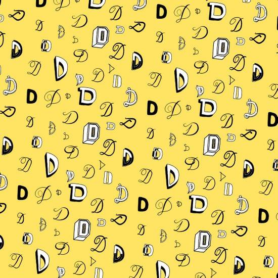 Letter Patterns, Part D Art Print