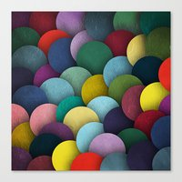 Dirty Circles Canvas Print