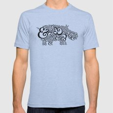 Ampersand Hippo Mens Fitted Tee Athletic Blue SMALL
