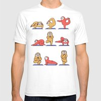 Sloth Yoga Mens Fitted Tee White SMALL
