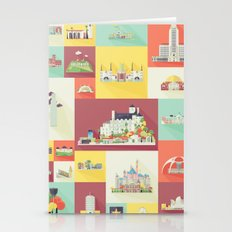 Los Angeles Landmarks Stationery Cards
