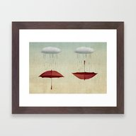 Embracing The Rain Framed Art Print