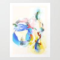 Blue Bubble Walz Art Print
