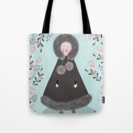 Tote Bag featuring WINTER GIRL by Jane Newland