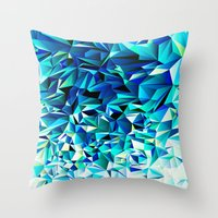 Green & Navy No. 1 Throw Pillow