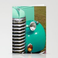 Vintage Car Stationery Cards