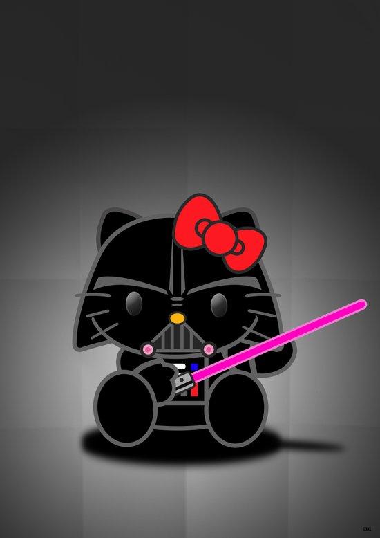 Dark Kitten Art Print
