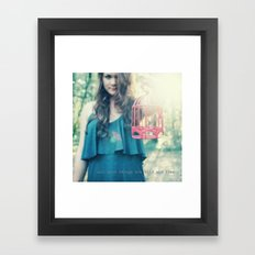 wild and free Framed Art Print