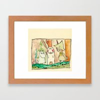 Manatee and The Moomins Framed Art Print