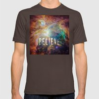 Believe Mens Fitted Tee Brown SMALL