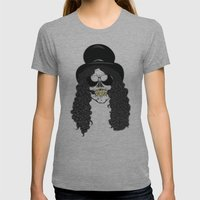 Skulls Of Rock: Slash Womens Fitted Tee Athletic Grey SMALL