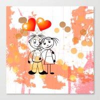 Beste Freunde - Best Fri… Canvas Print
