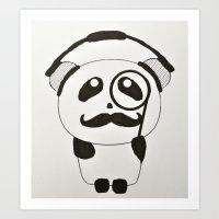 Professor Panda Art Print