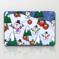 Rocking Robin In A Winter Wonderland. iPad Case