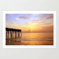 Sunrise On Vero Beach Art Print
