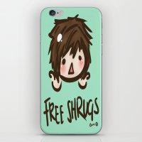 'Free Shrugs' iPhone & iPod Skin