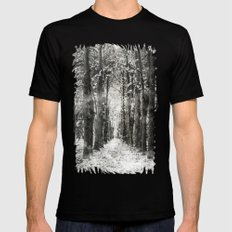 Infrared and symmetry SMALL Black Mens Fitted Tee