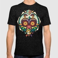 A Terrible Fate Mens Fitted Tee Tri-Black SMALL
