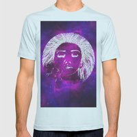 Dream, Space Mens Fitted Tee Light Blue SMALL