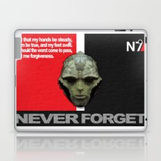 NEVER FORGET - Thane Krios - Mass Effect Laptop & iPad Skin