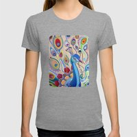Peacock Womens Fitted Tee Tri-Grey SMALL