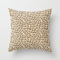 Baby leopard Throw Pillow
