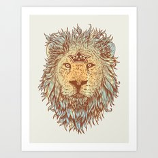 The Blue-Blooded and the Brave Art Print