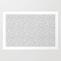 Grey Leopard Print Art Print